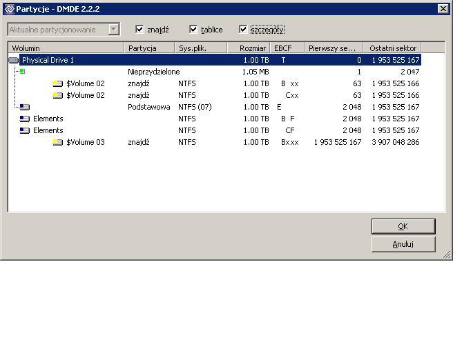 Dysk zewn�trzny WD 1TB niewidoczna partycja NTFS (uszkodzona tablica partycji?)