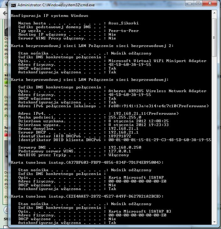 Nie moge odblokowa� �adnego portu Cisco EPC3825