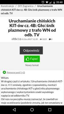 Uruchamianie chińskich KIT-ów cz. 4B: Głośnik plazmowy z trafo WN od odb. TV