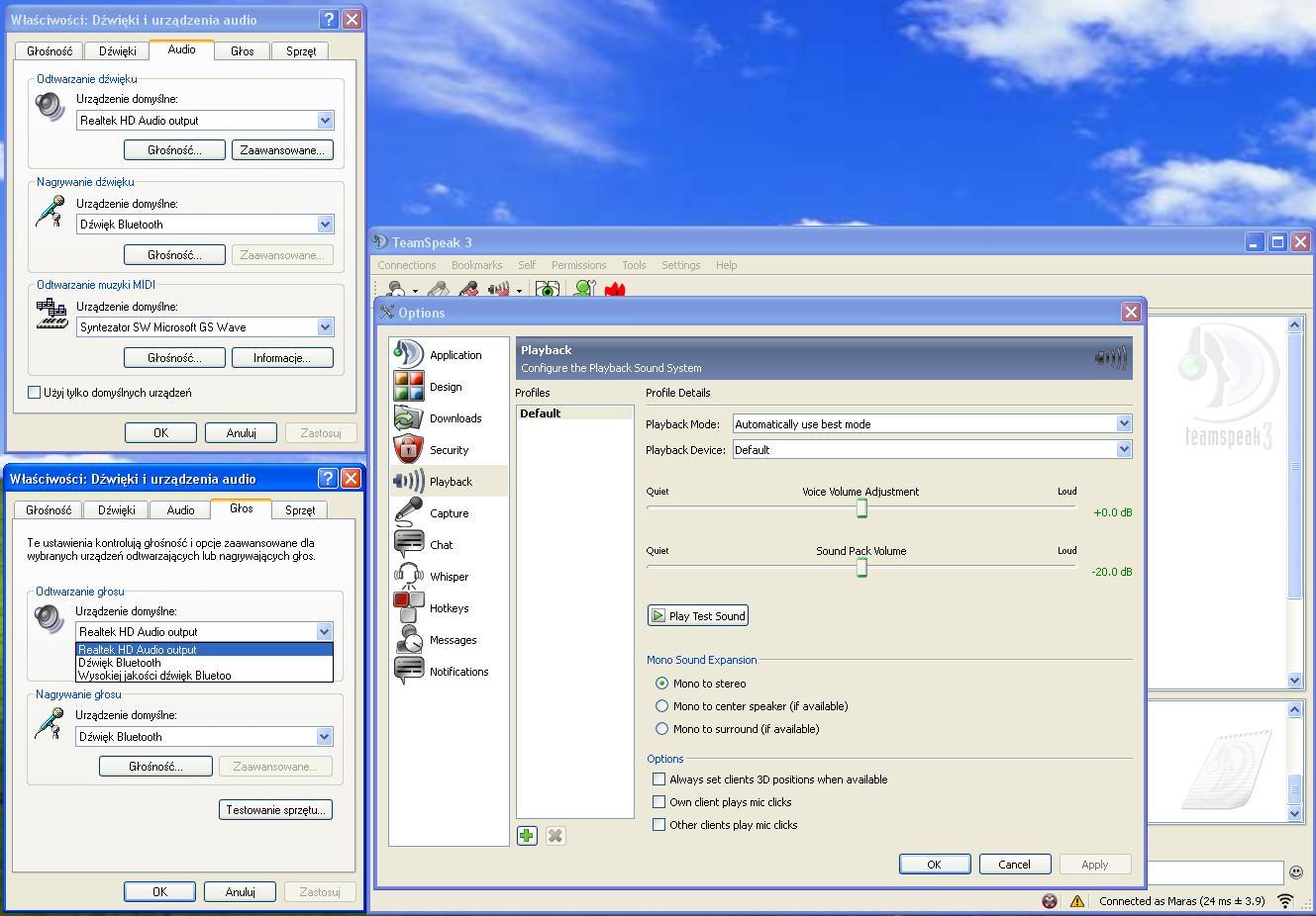 Logitech H609 - Konfiguracj� jako headset do Skype / TS