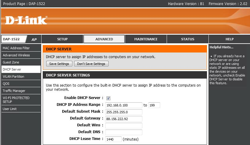 D-Link DAP-1522, Cisco EPC3010 - Brak internetu po Wi-Fi