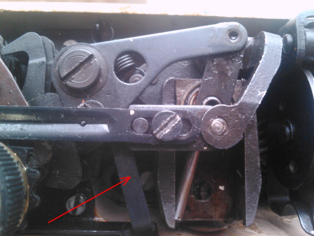 maszyna �ucznik 444 brak �ciegu prostego