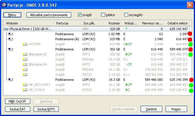 WDC WD3200BEKT-60V5T1 - Zmniejszony wolumin i utrata danych - odzysk