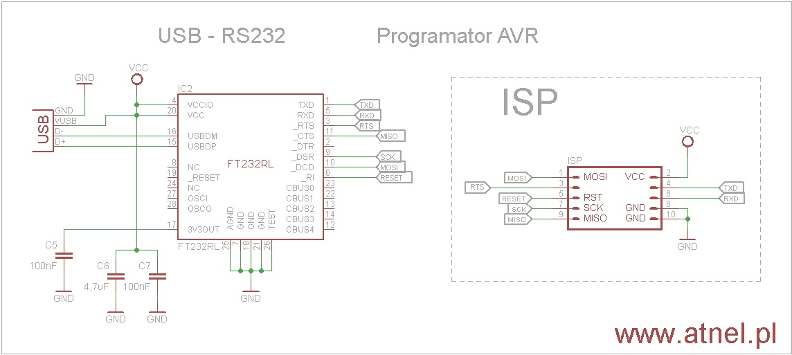 ft232r  u2013 as avr   usb  rs232 programmer