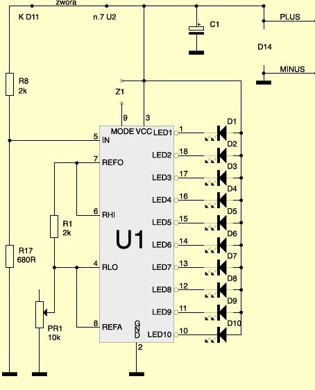 Dopuszczalne napi�cie na wej�ciu LM3914