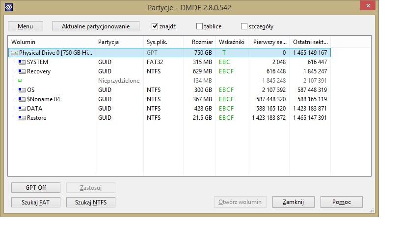 Asus R500VJ - Windows8,pomieszane partycje,nie dzia�a recovery