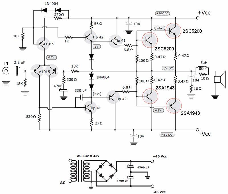Wzmacniacz tranzystorowy 200W