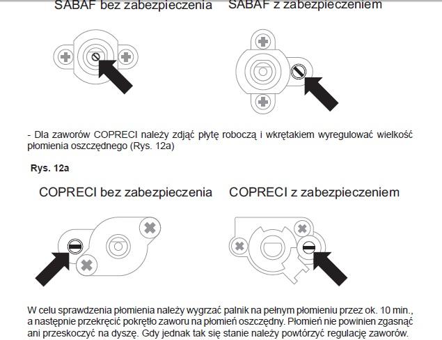 Amica PG1921X  Regulacja płomienia  elektroda pl