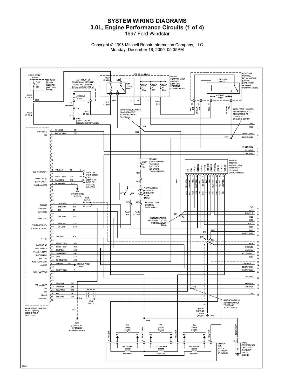 Gemütlich 2000 Ford Windstar Schaltplan Galerie - Der Schaltplan ...