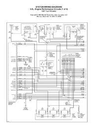 Ford Windstar - Schemat zasilania cewki zapłonowej.