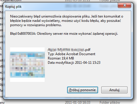 Kopiowaniem plik�w, foldery udost�pnione i Windows 7 Pro SP1 64bit