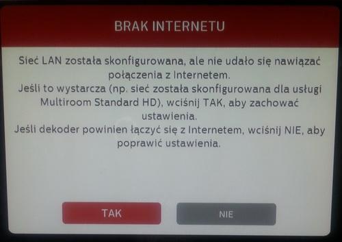 Tuner ADB 2850ST - Jak ustawi� dost�p do internetu
