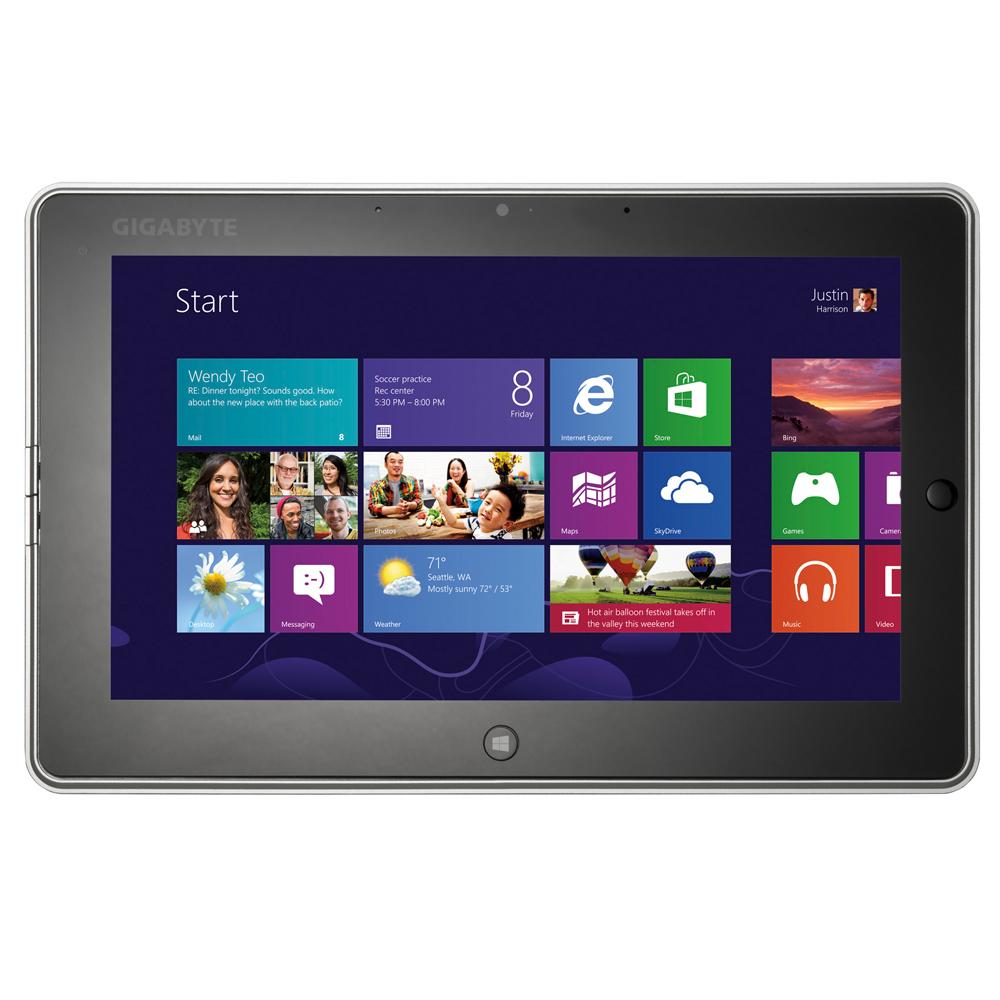 "Gigabyte S1082 - tablet z 10.1"" ekranem, Celeron 847 i Windows 8"