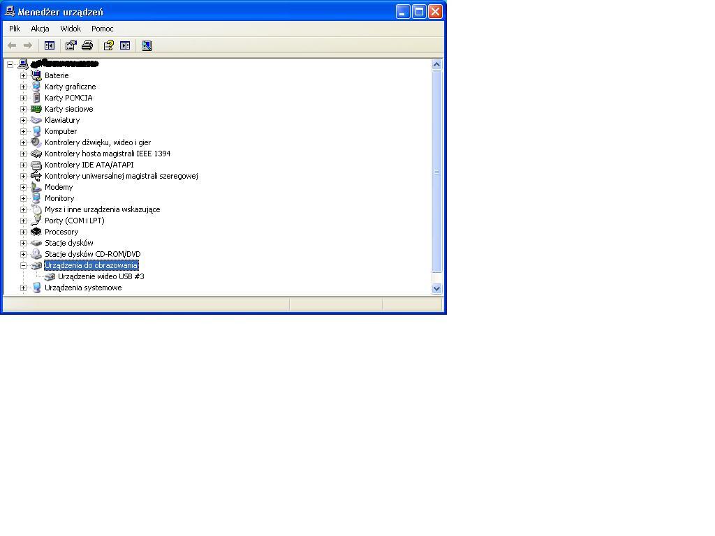 Microsoft vx-800 - Brak obrazu przy orginalnym sterowniku