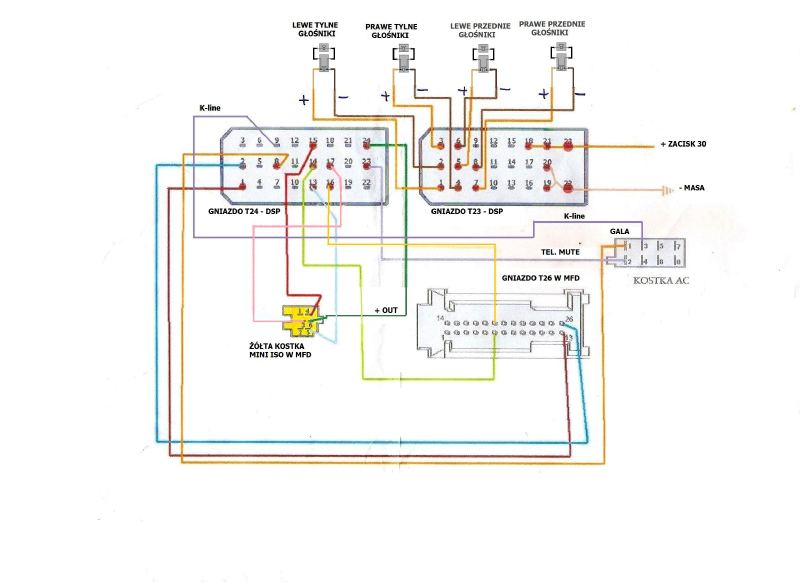 Uruchamianie wzmacniacza z VW Passat
