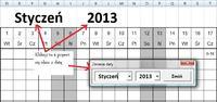 Excel - Modyfikacja grafiku ewidencji pracy