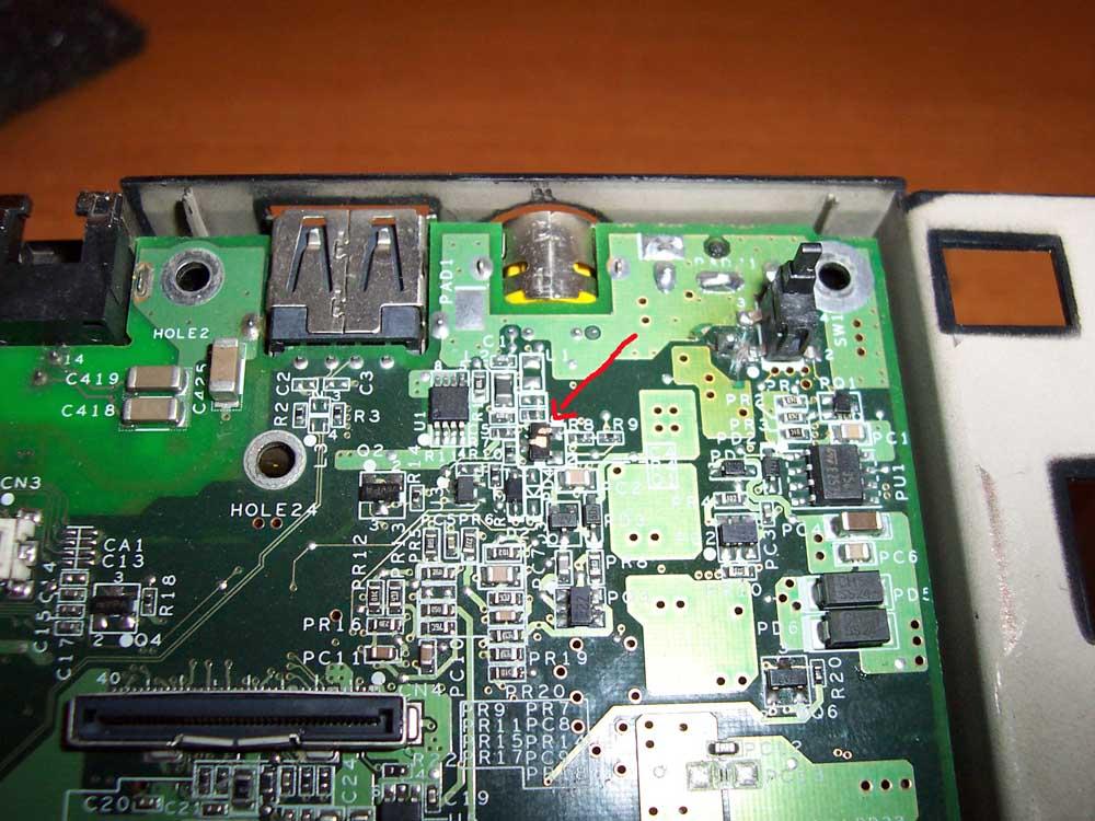 Identyfikacja elementy mobo Toshiba L10