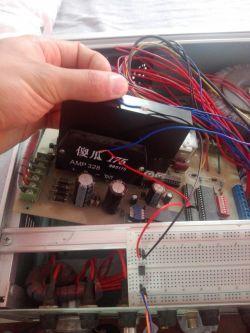Z układu na 24V po przekaźniku zasilić układ na 5-3,3V