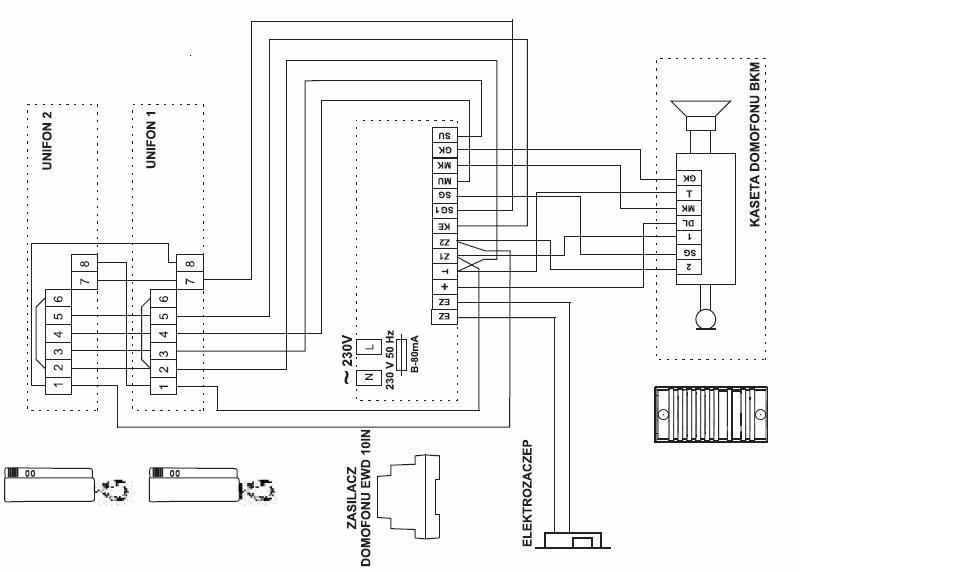 Jak Połączyć Zasilacz Urmet 18a1 Z Kasetą Elfon Bkm