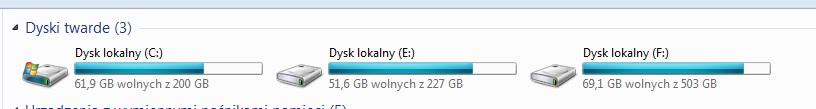Windows 7 64bit - Przy uruchomieniu Ubuntu z Live CD nie wida� jednej partycji.