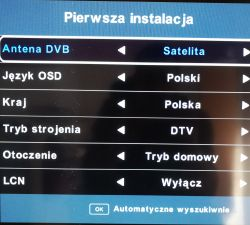 PL TV z Hotbirda jak ??? - Jak ustawić wbudowany odbiornik SAT w TV na Polskie k