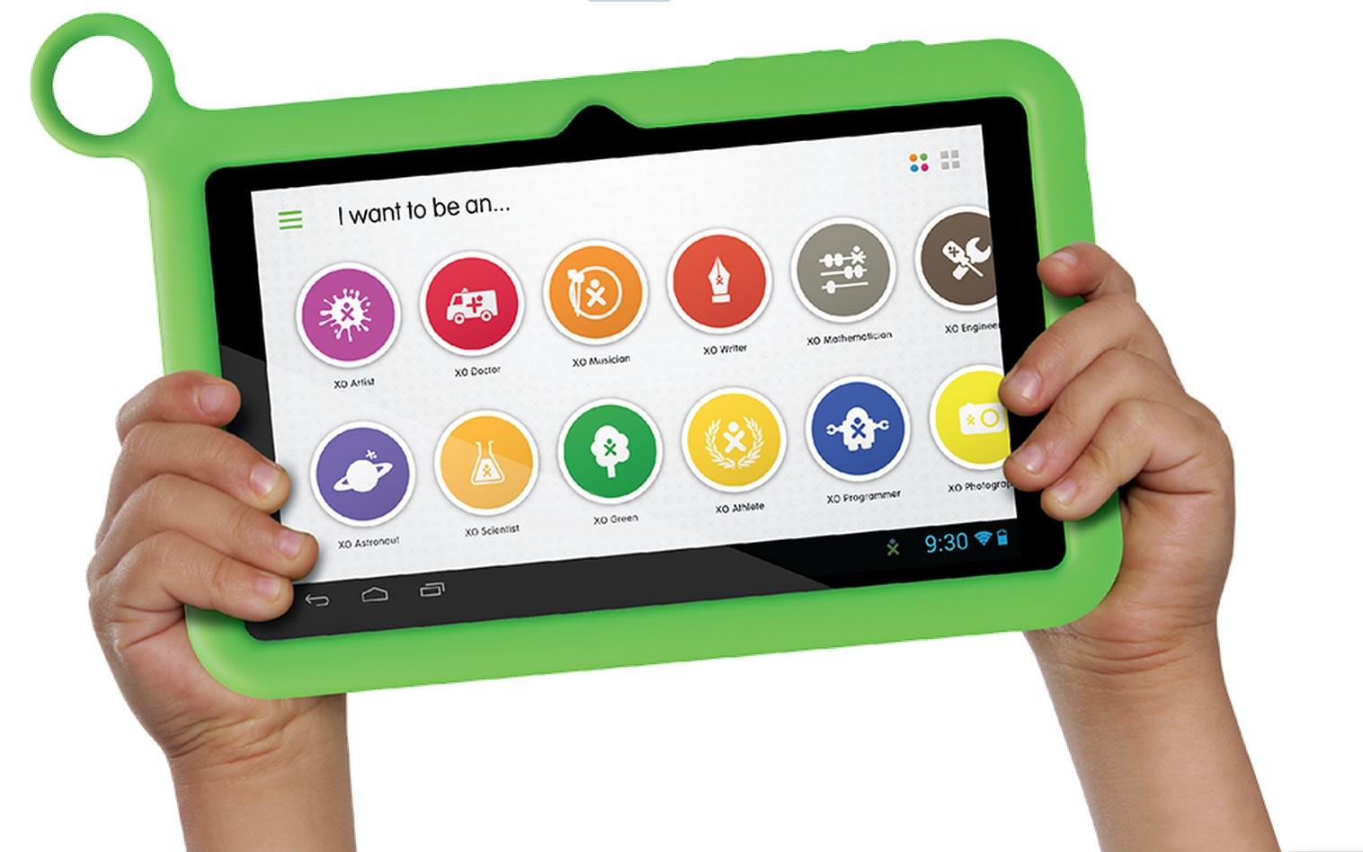 """XO Tablet - przeznaczony dla dzieci tablet z 7"""" ekranem w odpornej obudowie"""