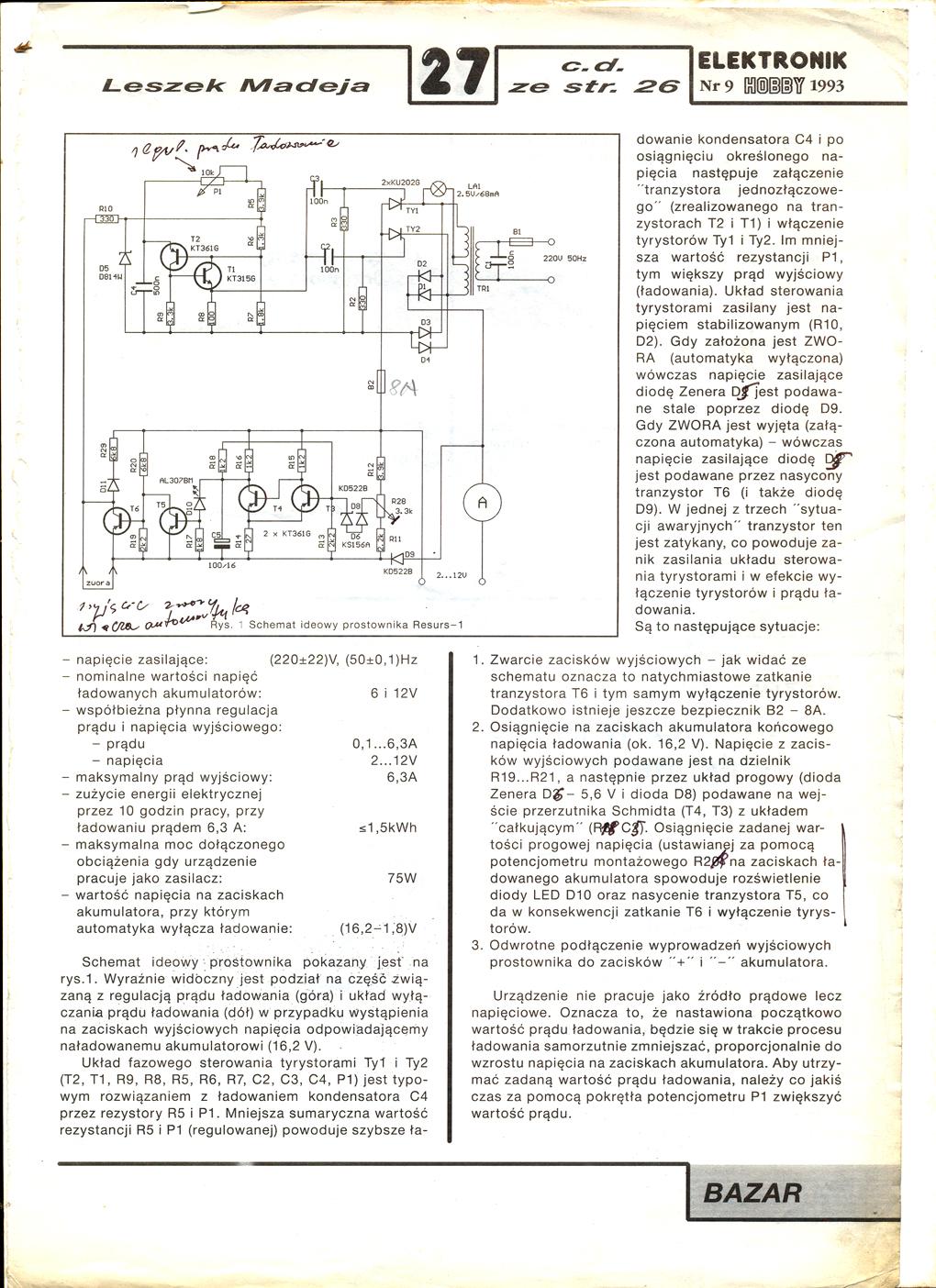 Automatyczny prostownik DIY by HSWG
