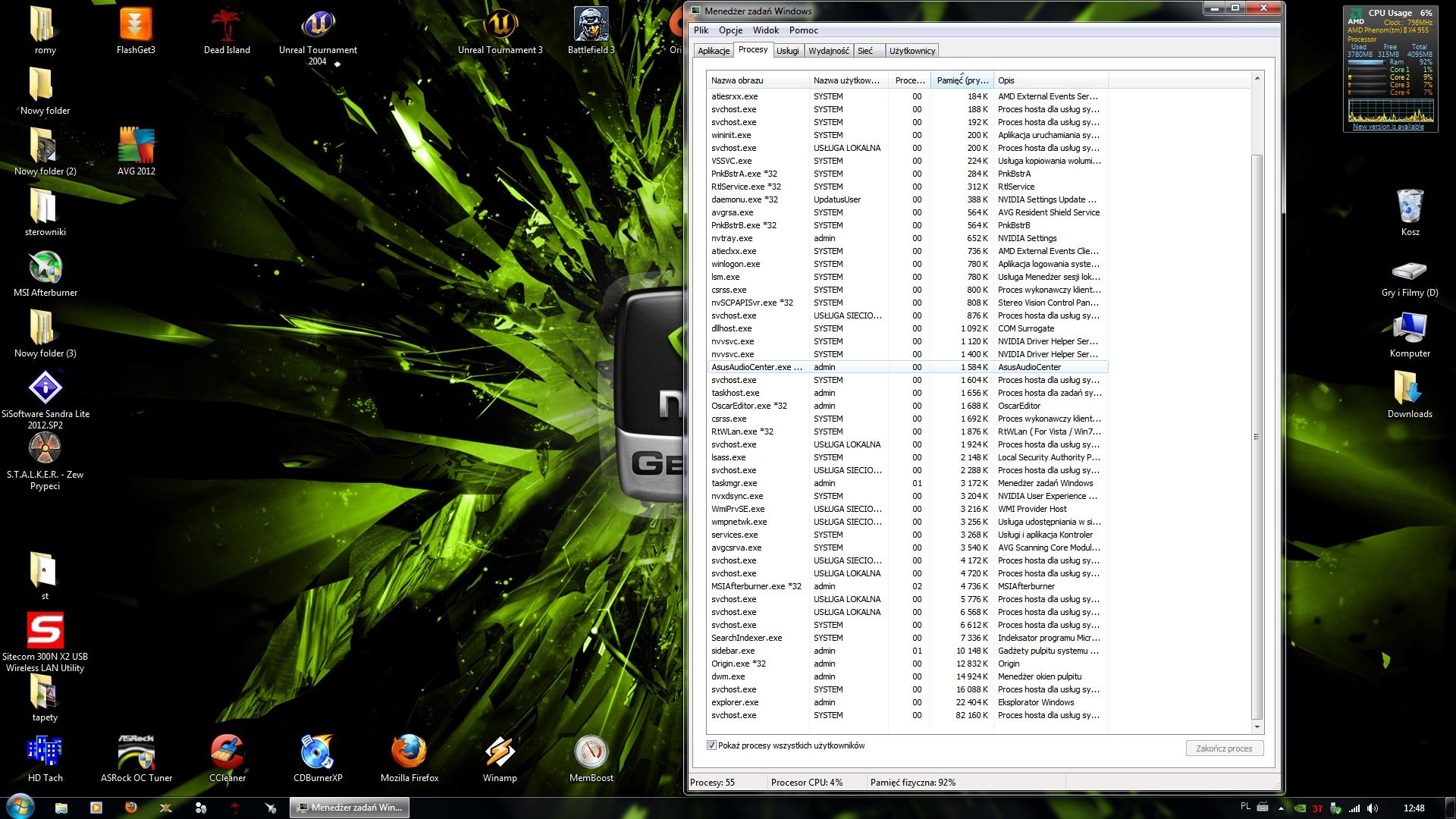 Ogromne zu�ycie pami�ci RAM-98% z 4gb