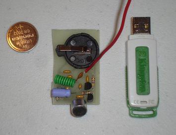 Nadajnik FM Bug Transmitter w pudełku po miętówkach.