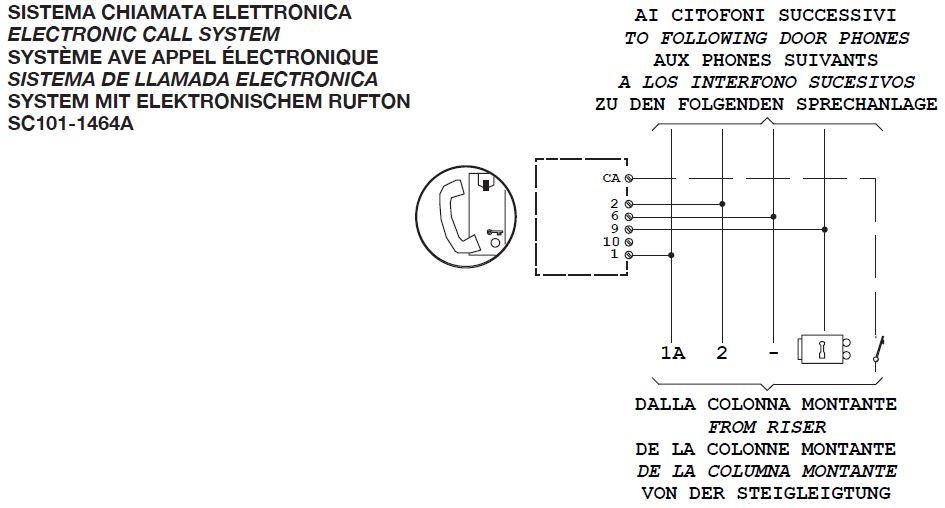 Pod czenie domofonu urmet 1150 1 w miejsce wekta tk 6 for Urmet 1150 1 schema elettrico