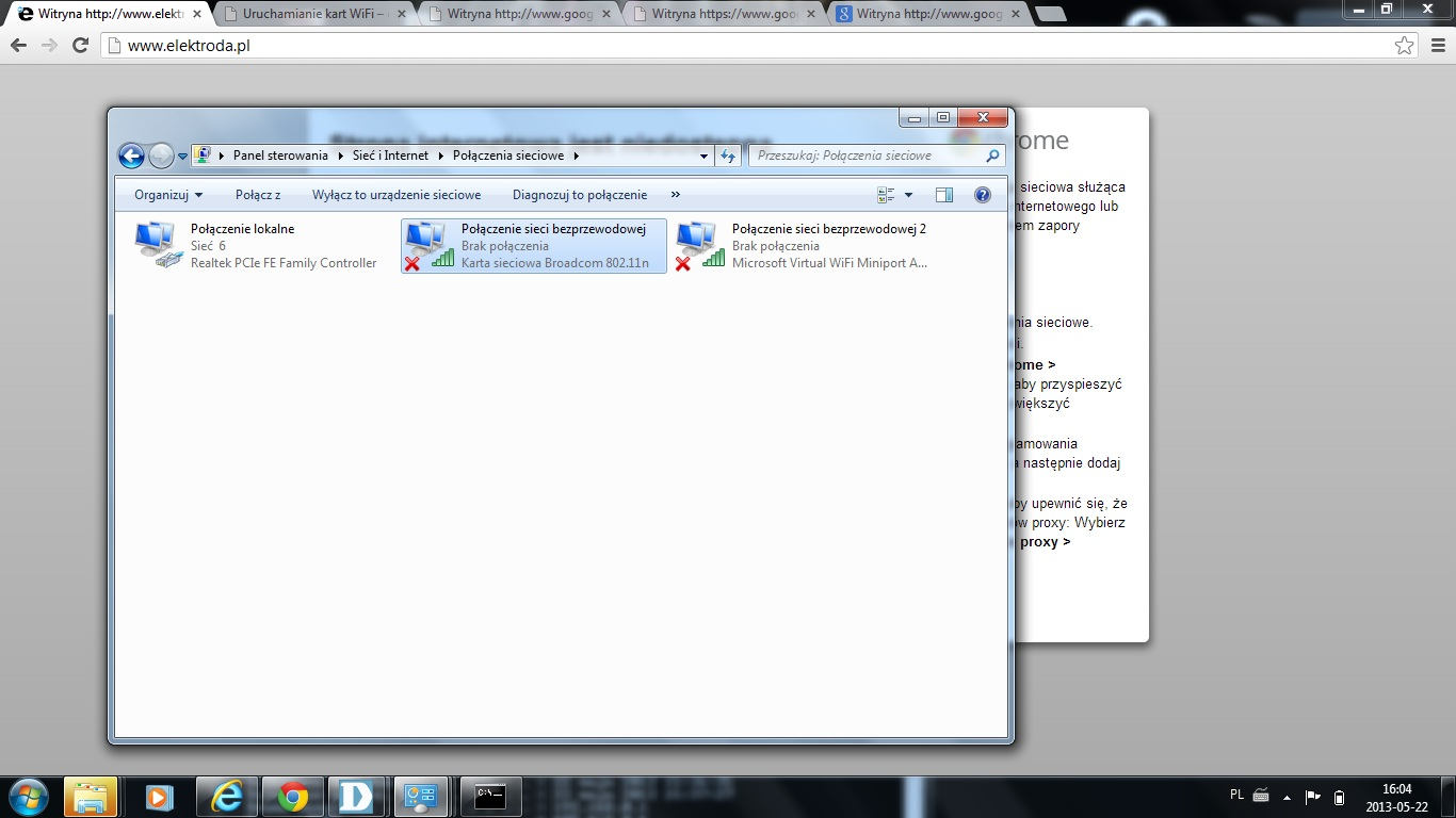 D-LINK - DIR-615 - B��d 651 / Brak po��czenia karta sieciowa vol2