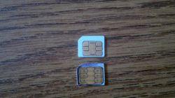 Cutting an old sim card to Nano