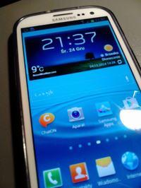 Samsung Galaxy S3 niepokojąca plama na wyświetlaczu którą widać pod światło