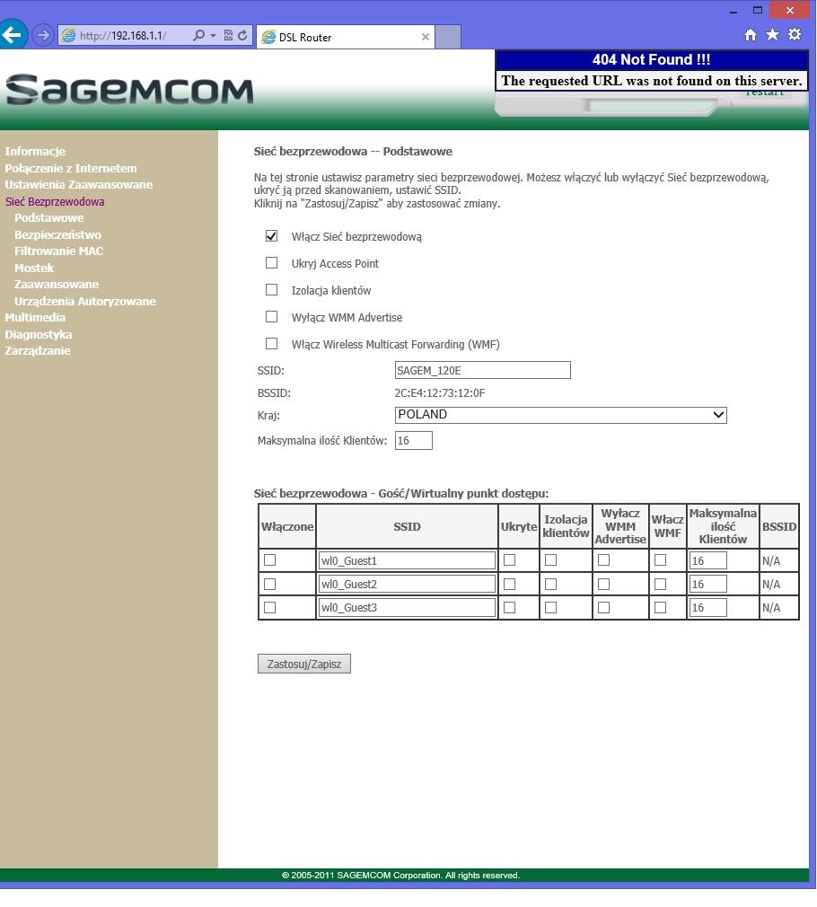 Sagemcom F@st 2704 - Jak go ustawi� jako tryb Bridge? Poooomocy