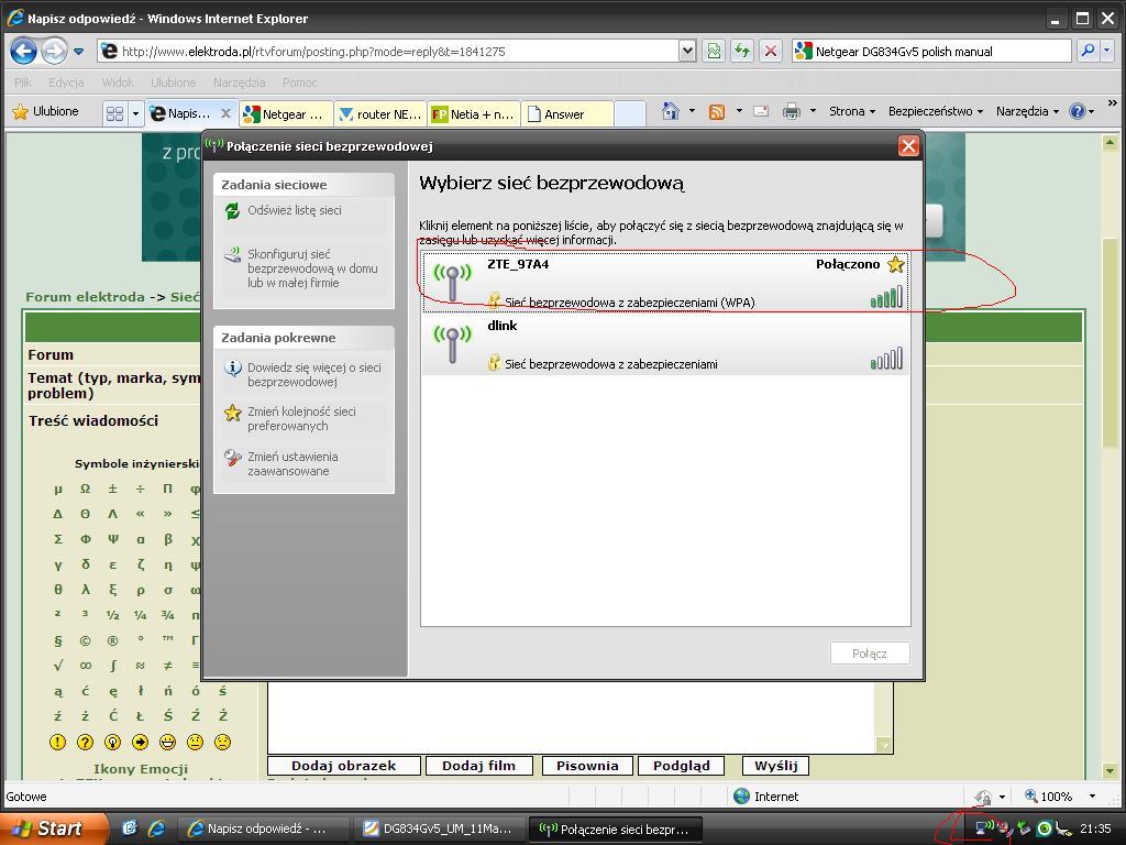 Problem z u�ytkowaniem Modem Router Netgear DG834Gv5