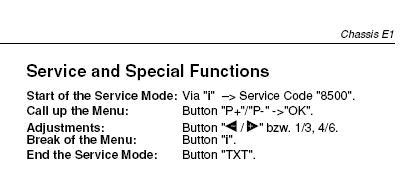 grundig davio T55-4501 text problem z wejściem w tryb serwis