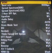 Plazma LG 42PQ1000-ZD Odblokowanie w menu serwisowym