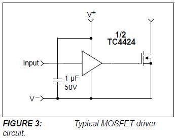 Dobór tranzystora do mosfet drivera (TC428).