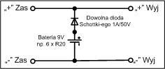 Alternatywne zasilanie dla urządzenia 9V 800mA