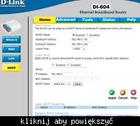router D-link 604 internet radiowy LAN brak internetu