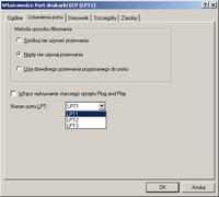 Klucz pod LPT i komputer bez złącza LPT w płycie