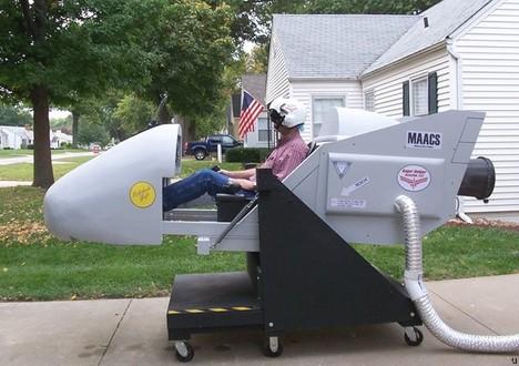 Ogrodowy symulator lotu własnej roboty