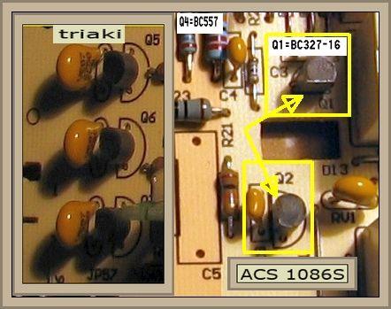 pralka Indesit WIA 102 w module spalony tranzystor