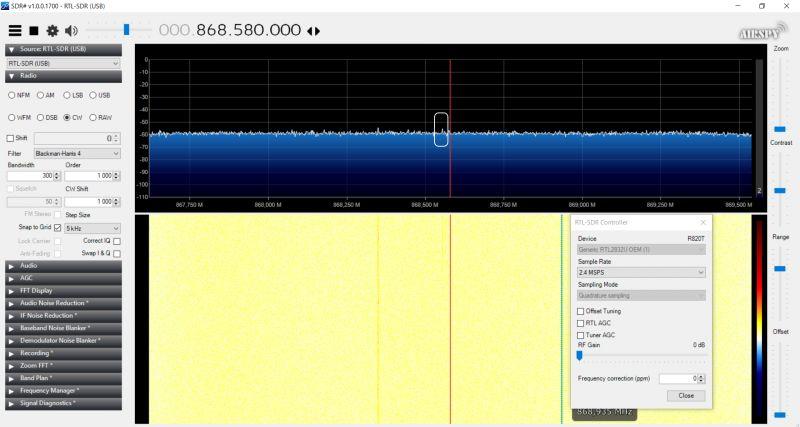 Porównanie dwóch odbiorników RTL-SDR