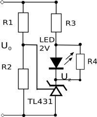 Wskażnik diodowy stanów na TL431