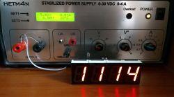 Grawerowana walentynka RGB z zegarem LED
