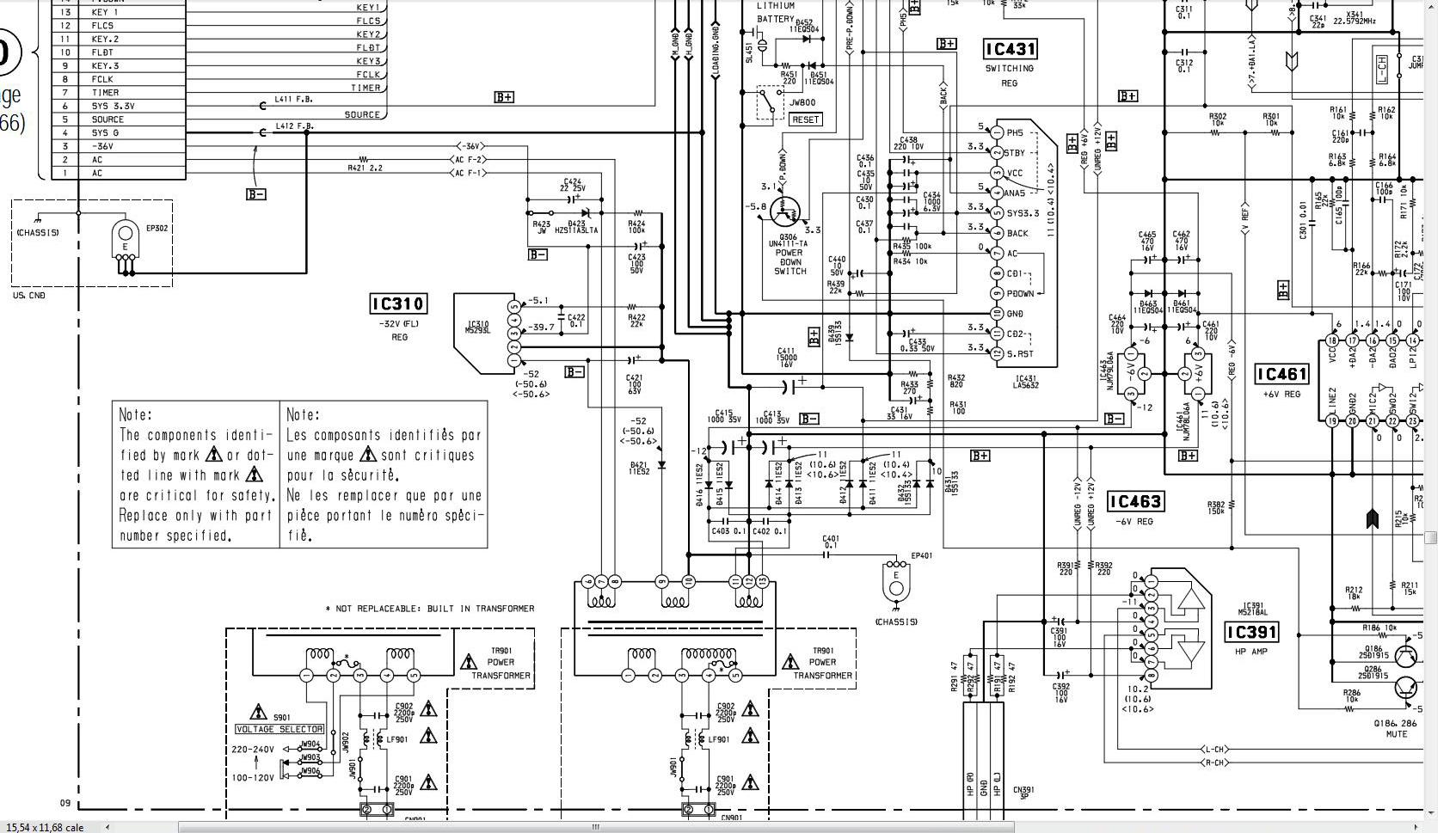 MiniDisc SONY MDS-JE520 - przyga�ni�te piktogramy wy�wietlacza