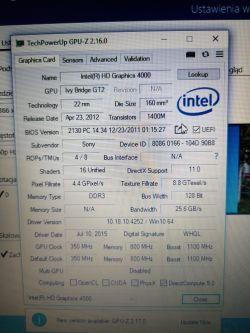 Laptop SONY Vaio SVF 152A29M - brak obrazu, wentylator kręci się.