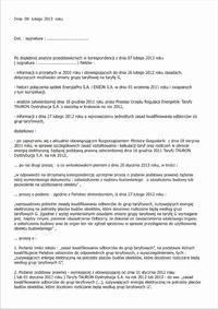 Z C11 na G 11 bez odbioru - Zmiana tzw.taryfy