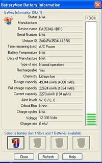 Bateria do Toshiba Satellite L300 nie �aduje si�, dioda nie pali si�